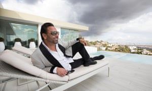 Niles Niami at his completed property the Opus in Los Angeles, California. He is due to put an even more luxurious property, known as The One, on the market later this year.
