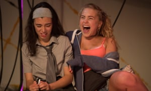 Tiger Cohen-Towell as Ruth and Eve Austin as Bex in Lit.
