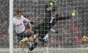 Fernando Llorente of Tottenham Hotspur scores his sides fourth goal.