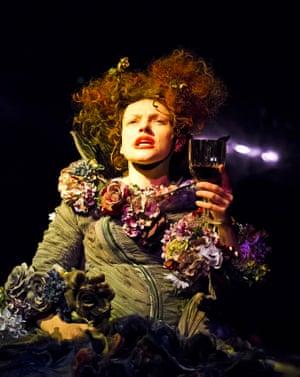 2015. Maxine Peake (The Skriker) in The Skriker by Caryl Churchill @ Royal Exchange, Manchester. Part of Manchester International Festival. (Opening 3-07-15)