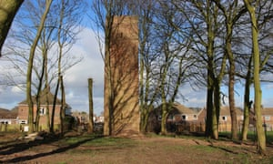 Observation tower of the battle headquarters at the former RAF Hucknall in Nottinghamshire