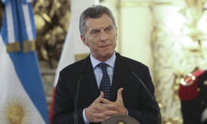 Argetinian president Mauricio Macri in Buenos Aires, Argentina, 21 November 2016.
