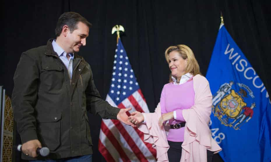Ted and Heidi Cruz: Donald Trump has threatened to 'spill the beans' on her.