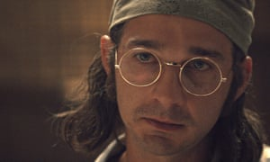 Shia LaBeouf as James Lort, a fictionalised version of his own father, in Honey Boy.