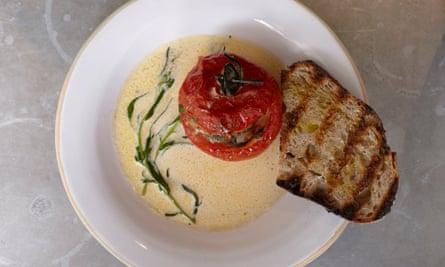 Sardine: pork and veal stuffed tomato.