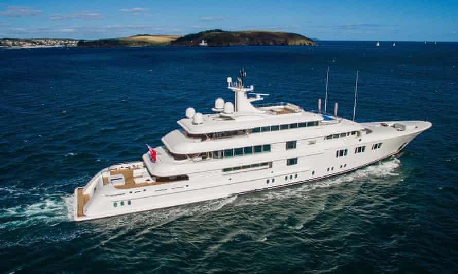 superyacht on the ocean