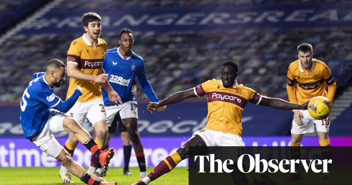 Kemar Roofe double rescues languid Rangers with win over Motherwell