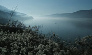 A fishing boat on the Danube, a few kilometres from Golubac, Serbia on the border with Romania.
