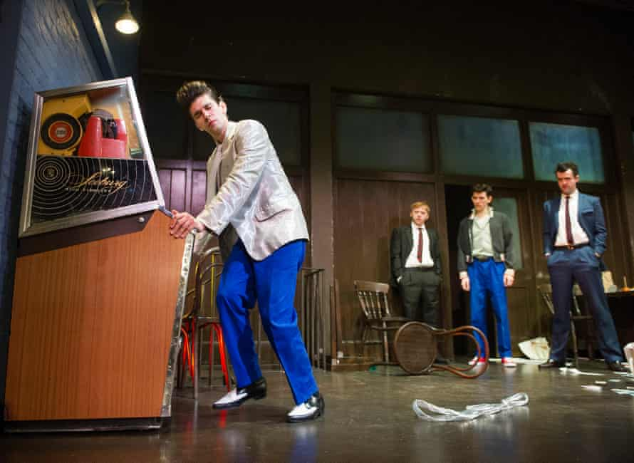 Ben Whishaw, Rupert Grint, Colin Morgan and Daniel Mays in Mojo by Jez Butterworth at the Harold Pinter theatre, London.