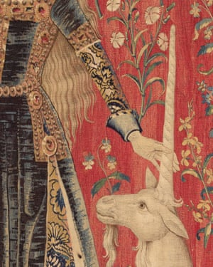 Detail from The Lady and the Unicorn tapestries.