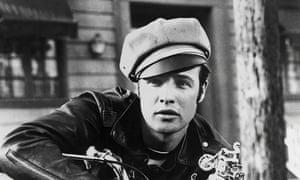 Marlon Brando wearing a peaked cap in 1953's The Wild One.