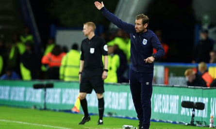Jan Siewert on the touchline during Friday's defeat to Fulham