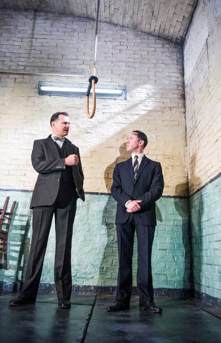 'Top candidate for actor of the year': David Morrissey, left, with Reece Shearsmith in Hangmen at the Royal Court.