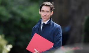 Rory Stewart arriving for cabinet today.