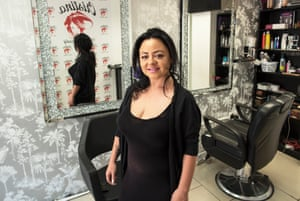 Cristina Nitscu, a hairdresser in Burnt Oak, London