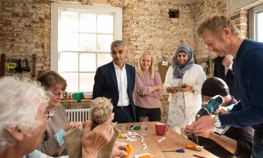 Mayor of London Sadiq Khan visits the White House in Dagenham.