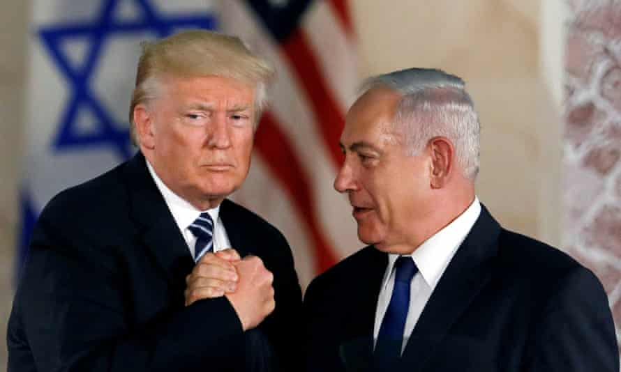 Donald Trump and Benjamin Netanyahu in 2017. First amendment advocates see the potential spread of such laws as a major threat to free speech on campuses.
