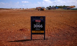 A housing development in Oran Park, western Sydney. The plan has identified a need for 184,500 new homes in the city's west by 2036.