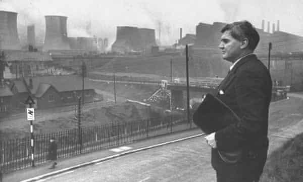 Aneurin Bevan at Ebbw Vale steelworks in 1945.