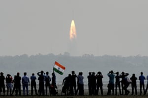 Sriharikota, India A crowd watches the launch of the ISRO Polar satellite launch vehicle, which created a world record by launching 104 satellites on board one rocket