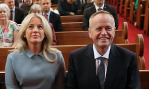 Chloe and Bill Shorten at an ecumenical service to mark the start of the parliamentary year