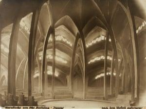 Sternkirche, model, interior view, 1922
