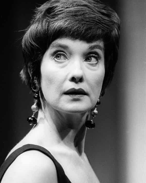 Nicola Pagett in Harold Pinter's Party Time at the Almeida theatre in 1991.