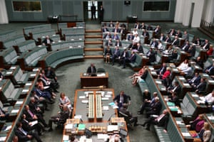 The opposition attempts to censure Mal Brough in the House of Representatives in Parliament House Canberra this morning, Wednesday 1st December 2015.