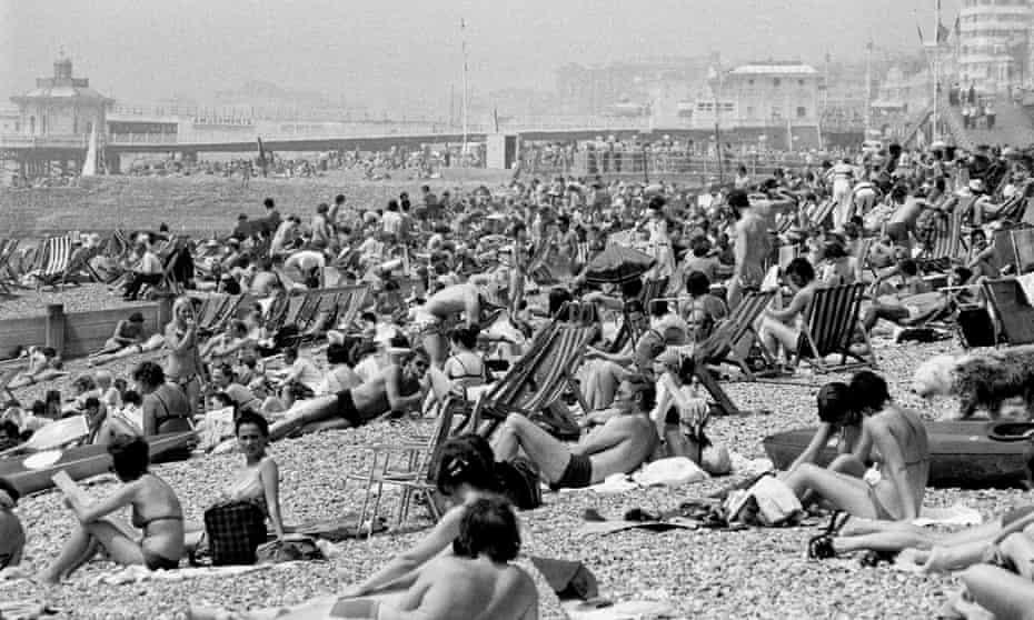 Brighton beach in June 1976.