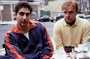 Christopher, left, in a scene from The Sopranos.