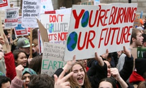 students striking for climate change action