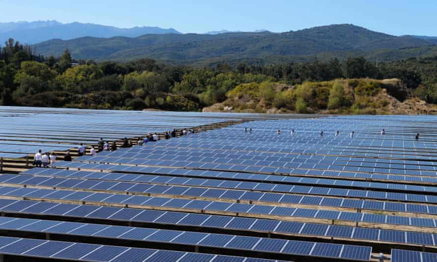 A solar power plant in Corsica