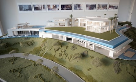 A model of Niles Niami's The One. When completed it will be priced at $500m.