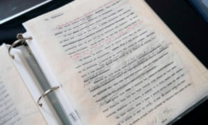 Malcolm X manuscripts on display at Guernsey's action house in New York.