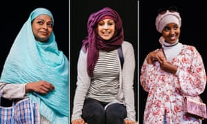 Ayesha Dharker, Aryana Ramkhalawon and Hibo Muse in Hijabi Monologues.