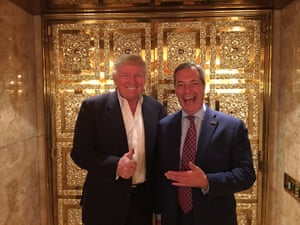 Nigel Farage meets President Elect Donald Trump at the Trump Tower