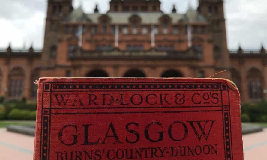 Ward Lock & Co guide outside Kelvingrove Art Gallery