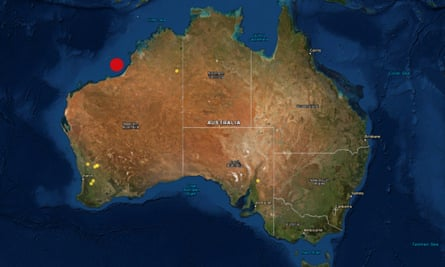 An undersea earthquake of 6.5 magnitude has struck west of Broome in Western Australia