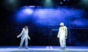 Denise Gough (Harper) and Nathan Stewart-Jarrett (Mr Lies) in Angels in America - Millennium Approaches.
