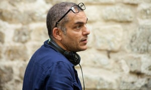 Director Nicolas Boukhrief on the set of Made in France.