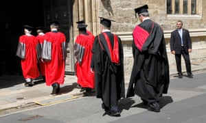 Academics at a ceremony at the University of Oxford.