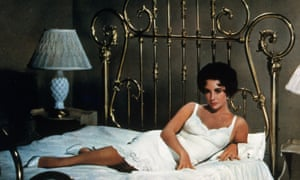 Elizabeth Taylor in Cat on a Hot Tin Roof.