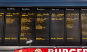 Cancelled Southern trains