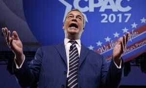 Nigel Farage speaks at CPAC.