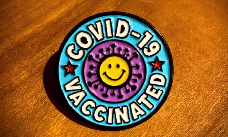 Happy Vax badge.