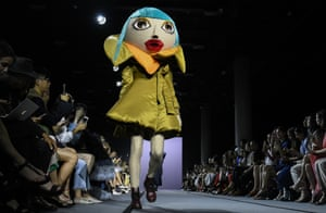 A model walks the runway during the Viktor & Rolf Haute Couture show