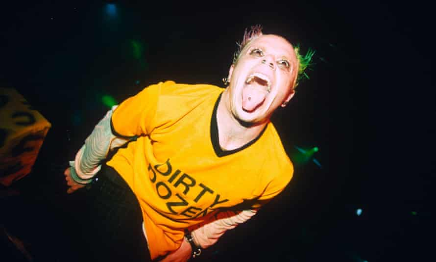 Keith Flint performing with the Prodigy in 1996.