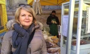 Doreen Russell outside a deli in Parma.