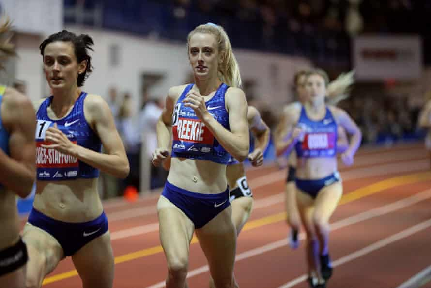 Jemma Reekie , who smashed the British indoor mile and indoor 1500m records at the Millrose Games in New York.