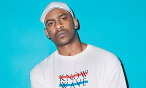 Skepta poses for a portrait backstage at The FADER FORT